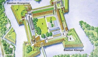 Map with open-air areas, picture: Citadel Berlin