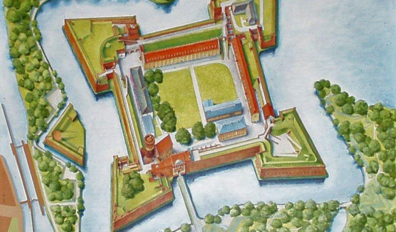 Plan der Zitadelle, Abb: Zitadelle Berlin