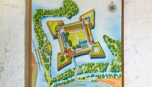 Karte im Torhaus