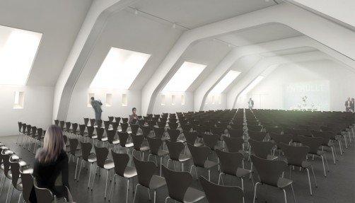 Visualisierung der Tagungslocation Alte Kaserne, Abb: Staab Architekten GmbH