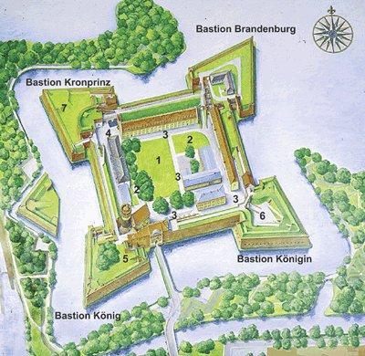 Plan mit Freiflächen, Abb: Zitadelle Berlin