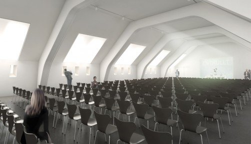 Visualisation of the location for congresses, picture: Staab Architekten GmbH