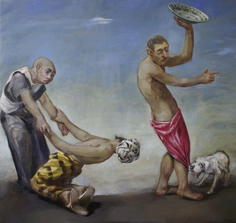 "Pavel Feinstein, ""o.T."", 2018, Öl/Lw."