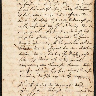 Seite aus dem Ratsprotokollbuch von Spandau von 1712, Foto: Zitadelle Berlin, Friedhelm Hoffmann