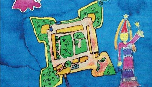 "Seidenmalerei von Jasmin Fritsch (Jugendkunstschule Spandau / ""Seidenmalerei"", Leitung: Helma Miething)"