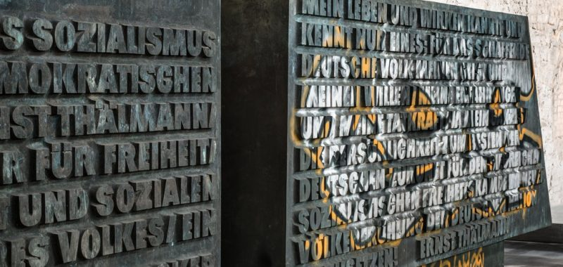 Stelen des Ernst Thälmann Denkmals, Foto: Zitadelle Berlin, Friedhelm Hoffmann