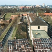 View from the Julius Tower onto the Bastion Crown Prince (Kronprinz), photo: Citadel Berlin, Friedhelm Hoffmann