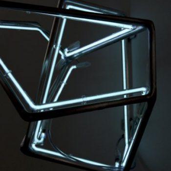 Albert Weis, parts, 2016, Aluminium, Neon, Foto: Albert Weis © VG Bild-Kunst, Bonn, 2018