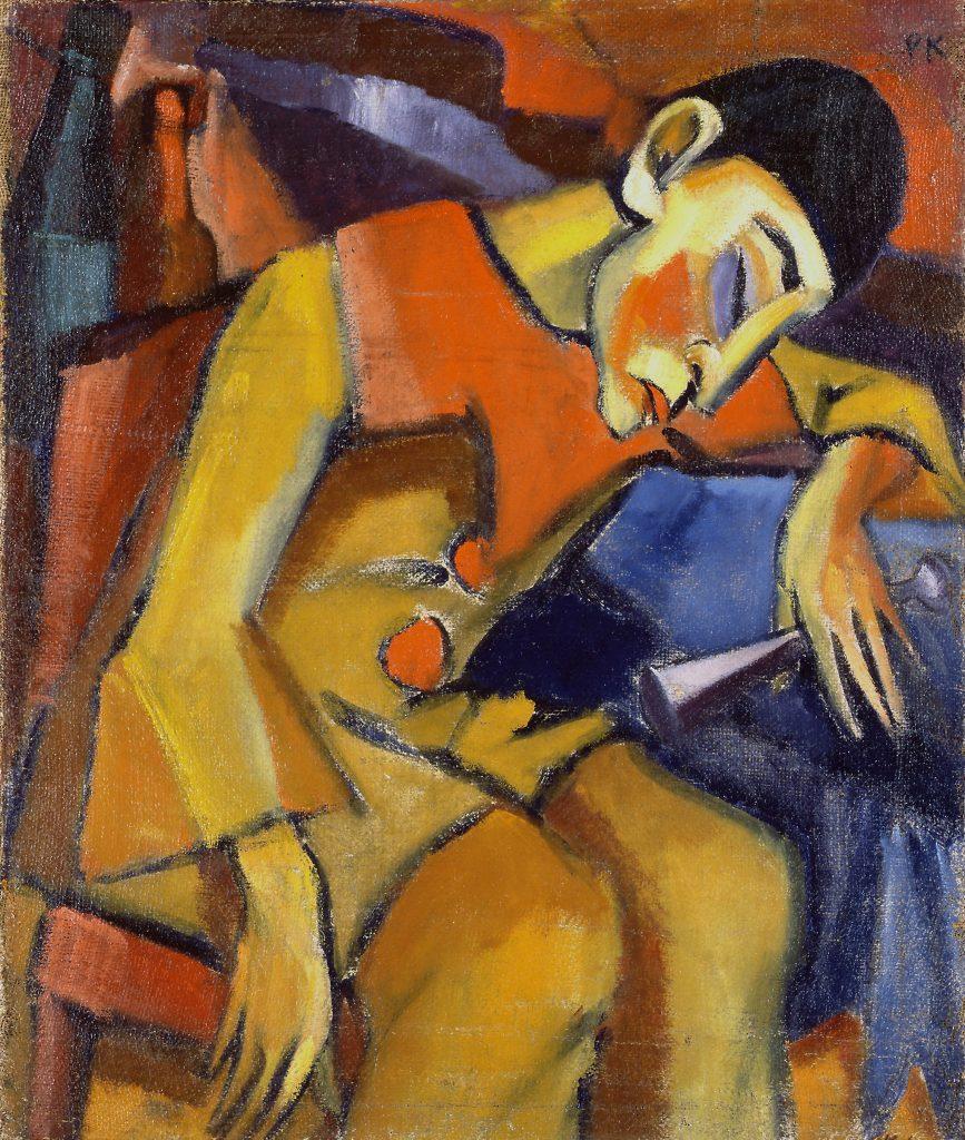 Paul Kother, Bajazzo, Öl/ Lw., 78 x 65 cm
