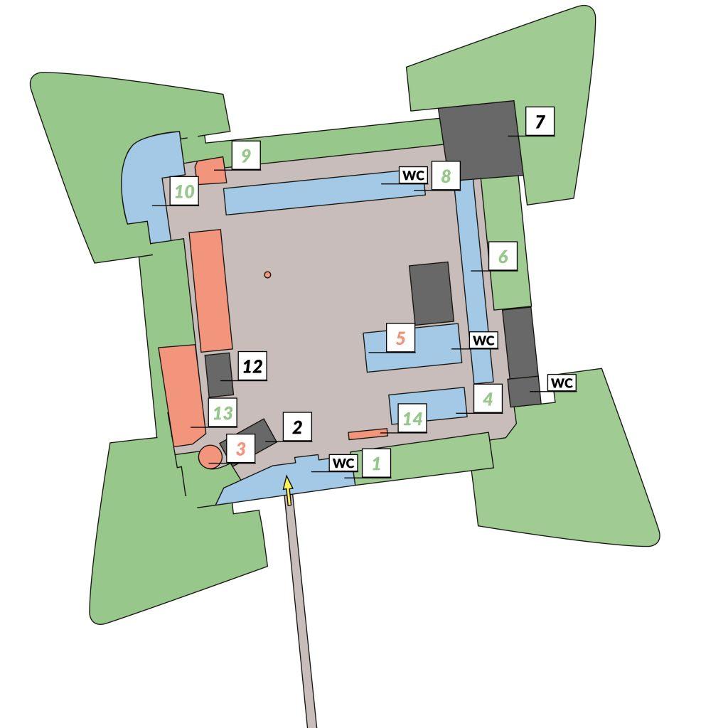 Corona Lageplan Zitadelle Spandau_ArchF geöffnet ExH geschlossen © Franz Thöricht