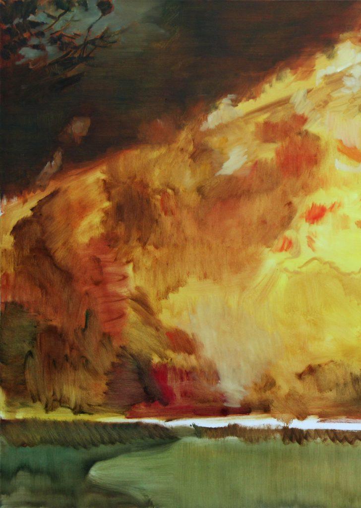 Daniel Sambo-Richter Feuer (Detail), 2012, Öl auf Leinwand, 130x220 cm © Daniel Sambo-Richter_hohe Auflösung